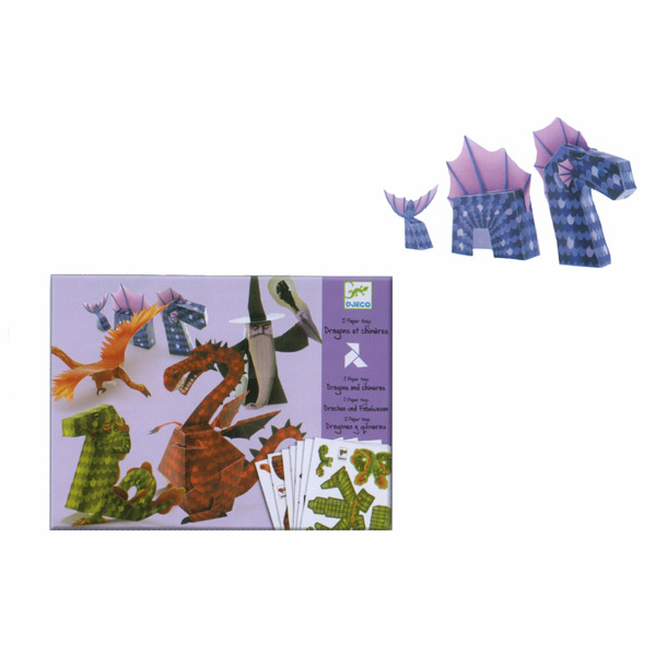 Djeco Paper Toy Dragons