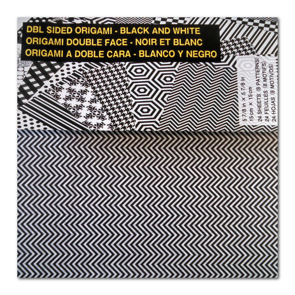 Origami Paper Black & White 6X6 24 Sheets