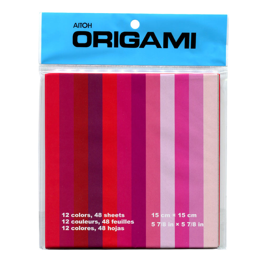 Origami Paper 12 Shades of Red 6x6 48/Sheets