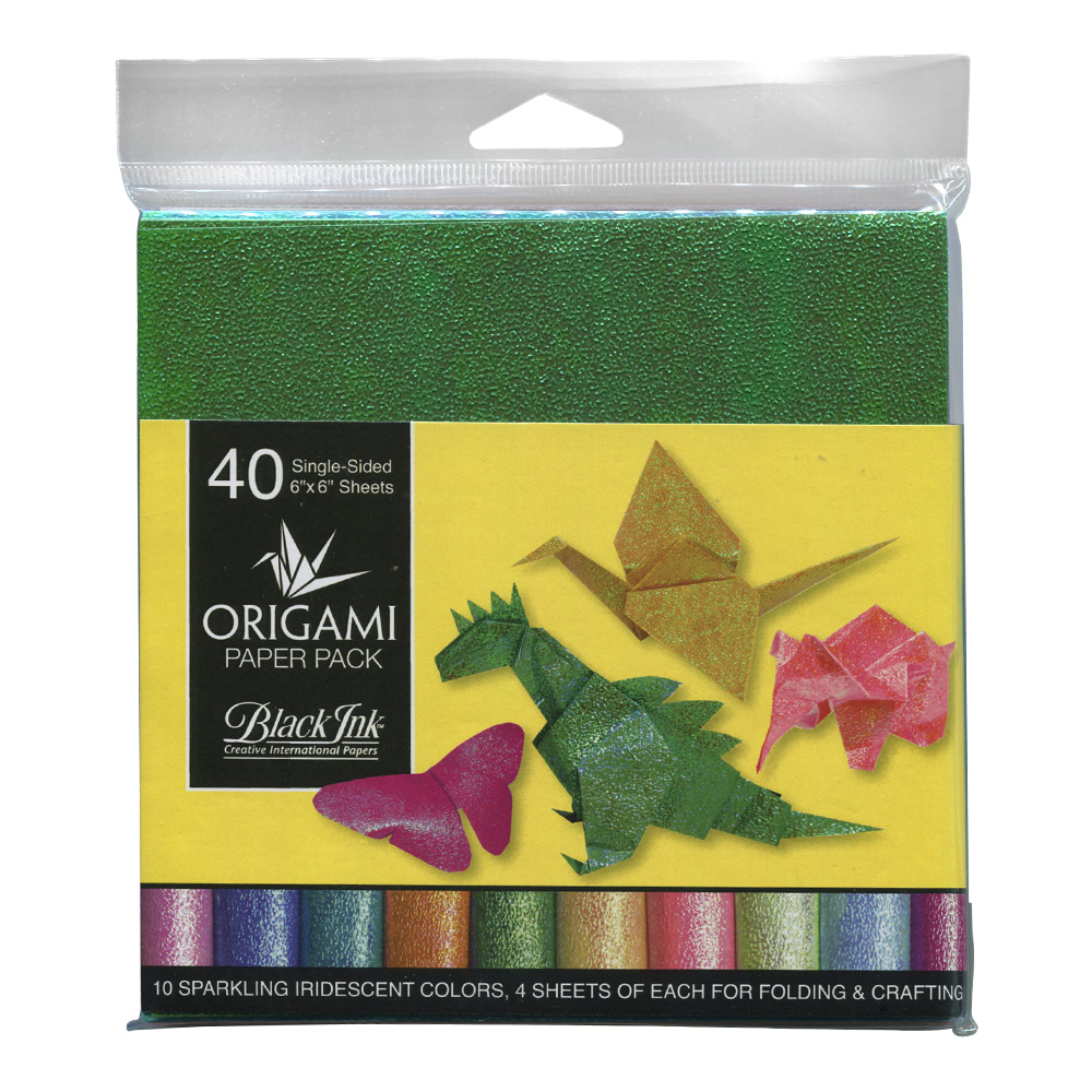 Origami Paper 40 Sheets Iridescent Colors