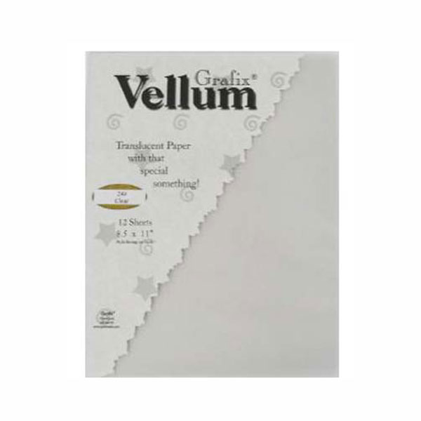 Grafix Vellum 50 Sheets 8.5X11 Clear 24Lb