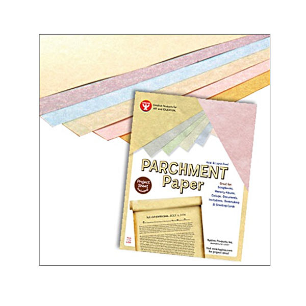 Parchment Paper Assorted Colors 8.5X11 100/Pk