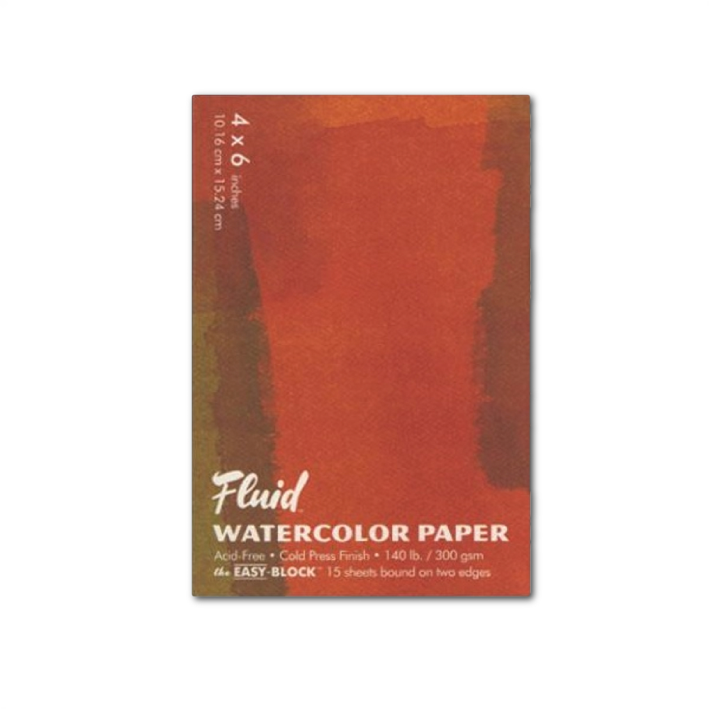 Fluid Watercolor Cold Press Ez-Block 4X6
