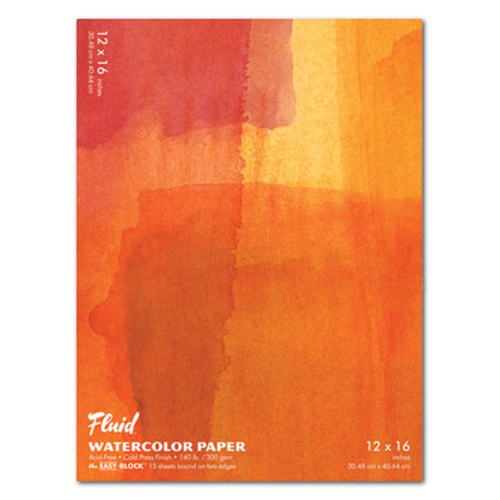 Fluid Watercolor Cold Press Ez-Block 12X16