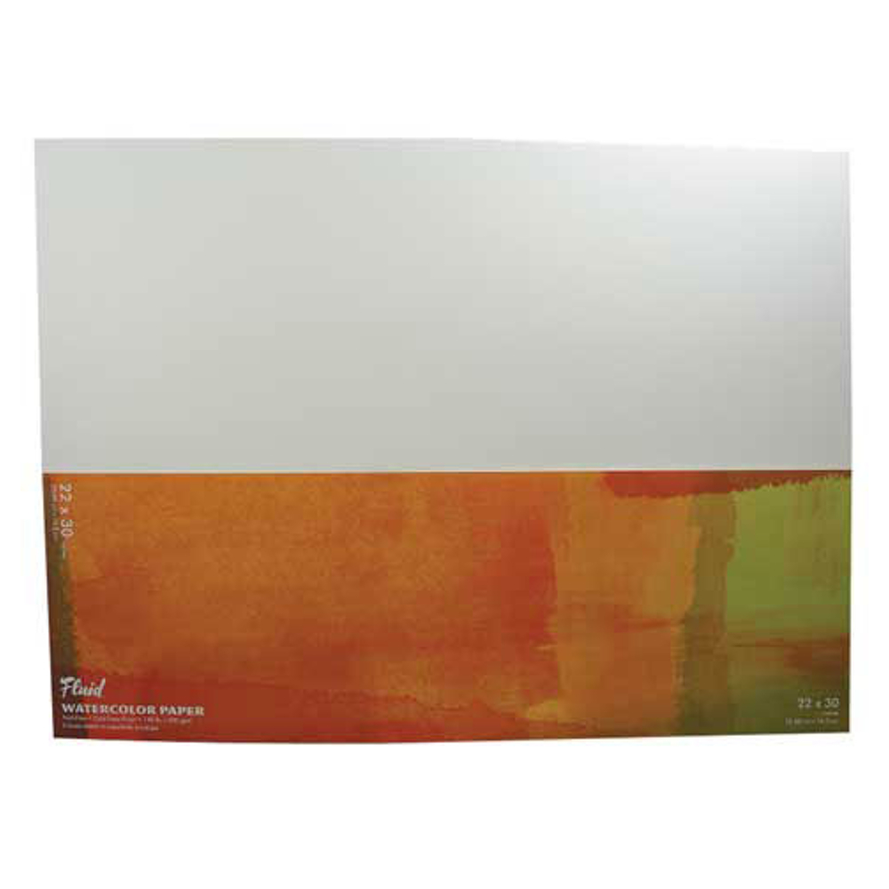 Fluid Watercolor Cold Press 22X30 Sheet 6/Pk