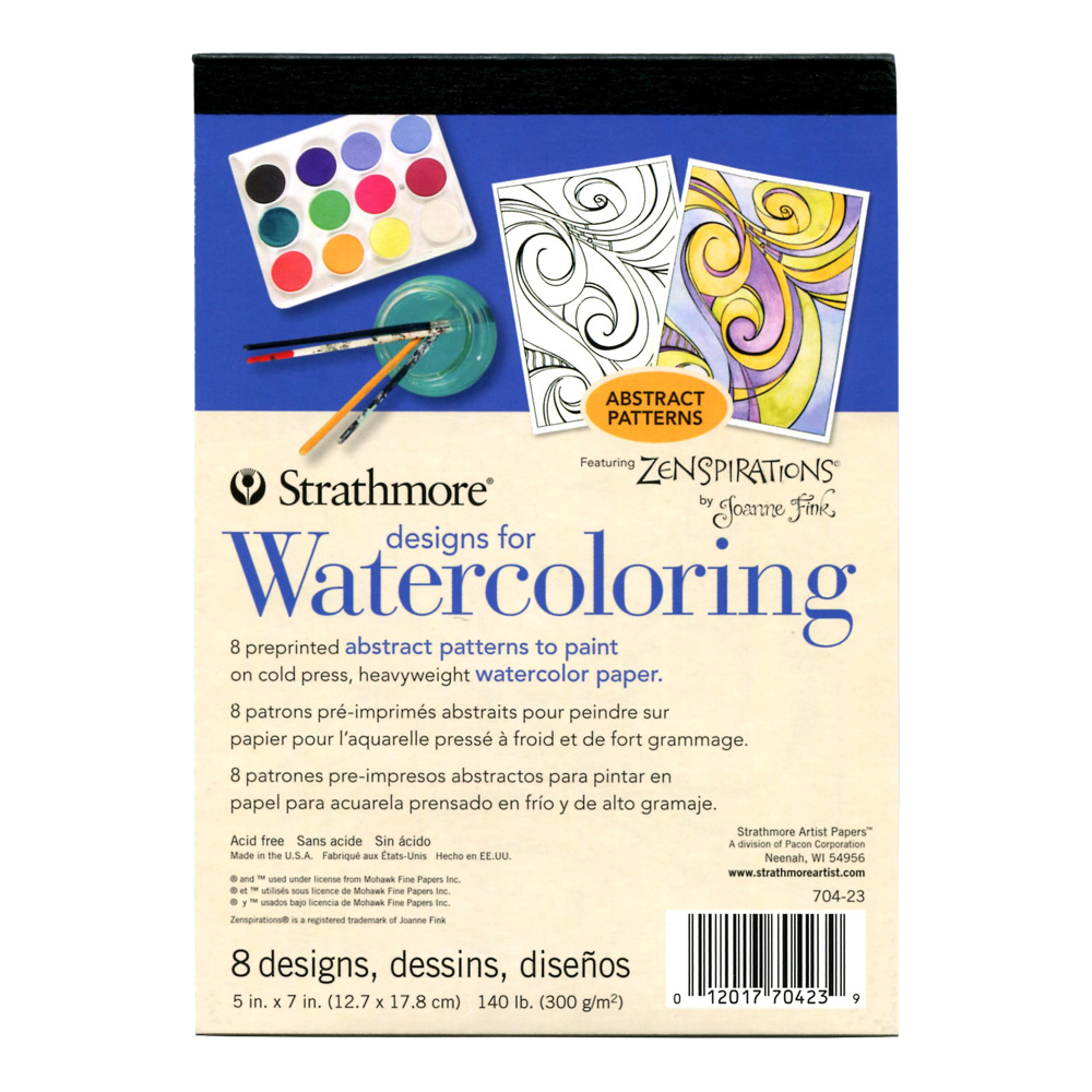 Strathmore Designs for Watercoloring Abstract