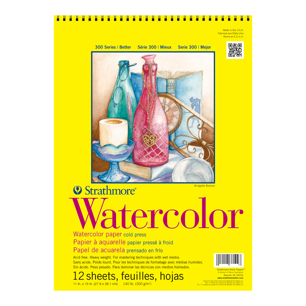 Strathmore 300 Watercolor Pad Wired 11X15