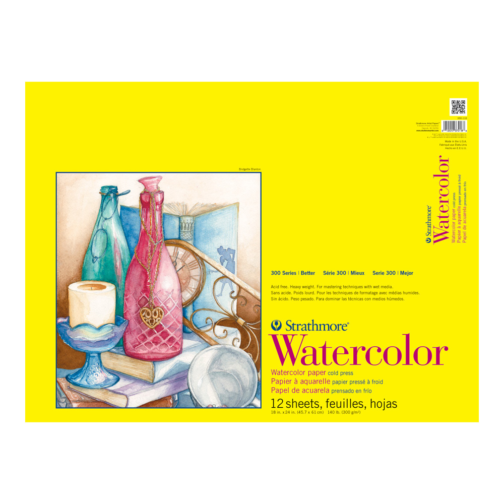 Strathmore 300 Watercolor Pad Taped 18X24