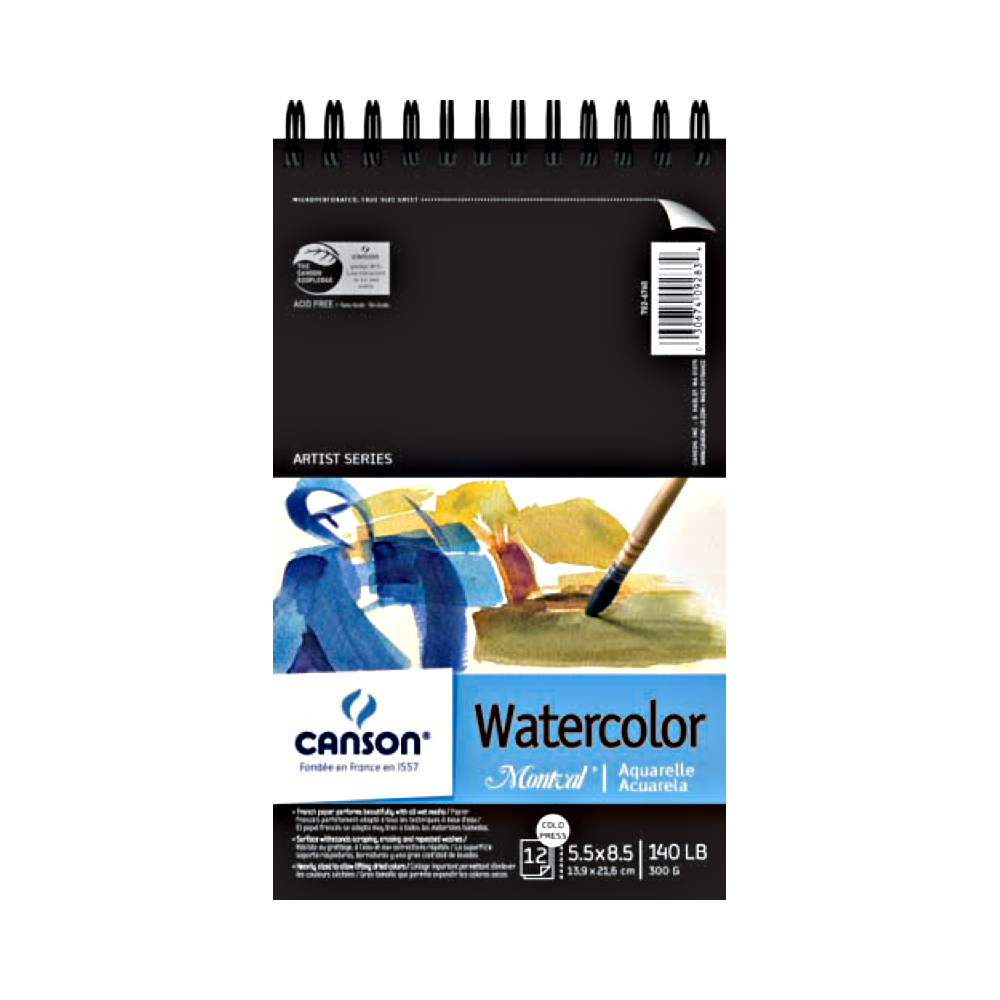 Montval 140Lb Watercolor Pad Wired 5.5X8.5