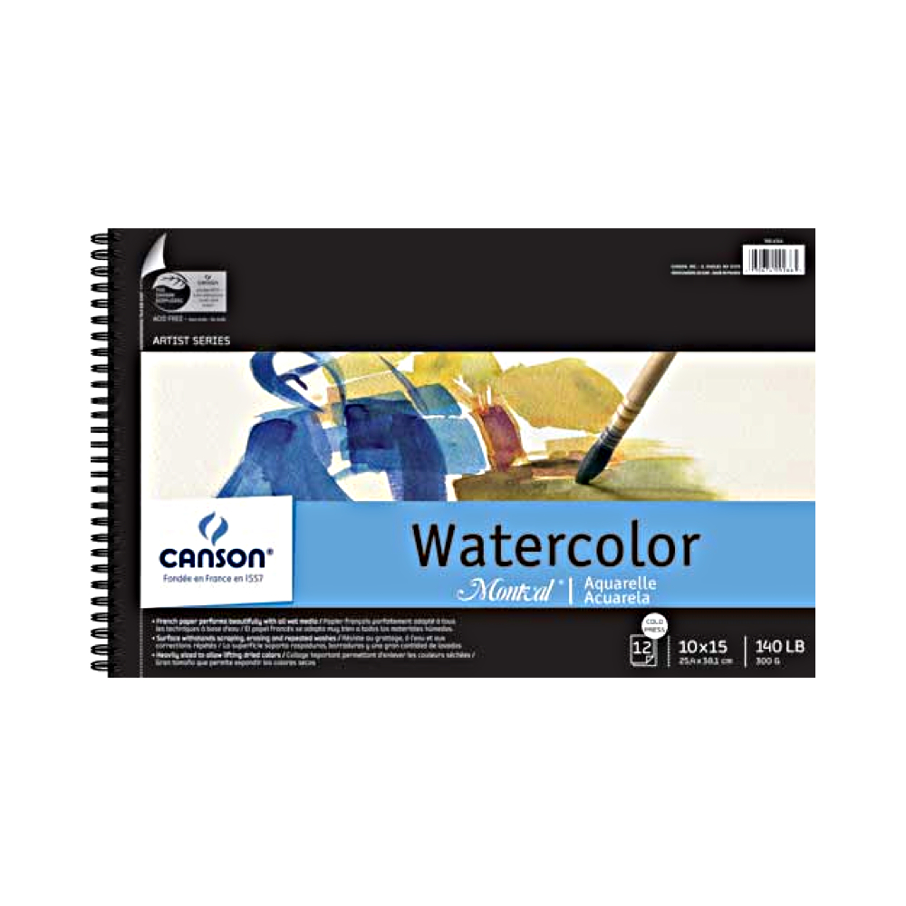 Montval 140Lb Watercolor Pad Wired 10X15