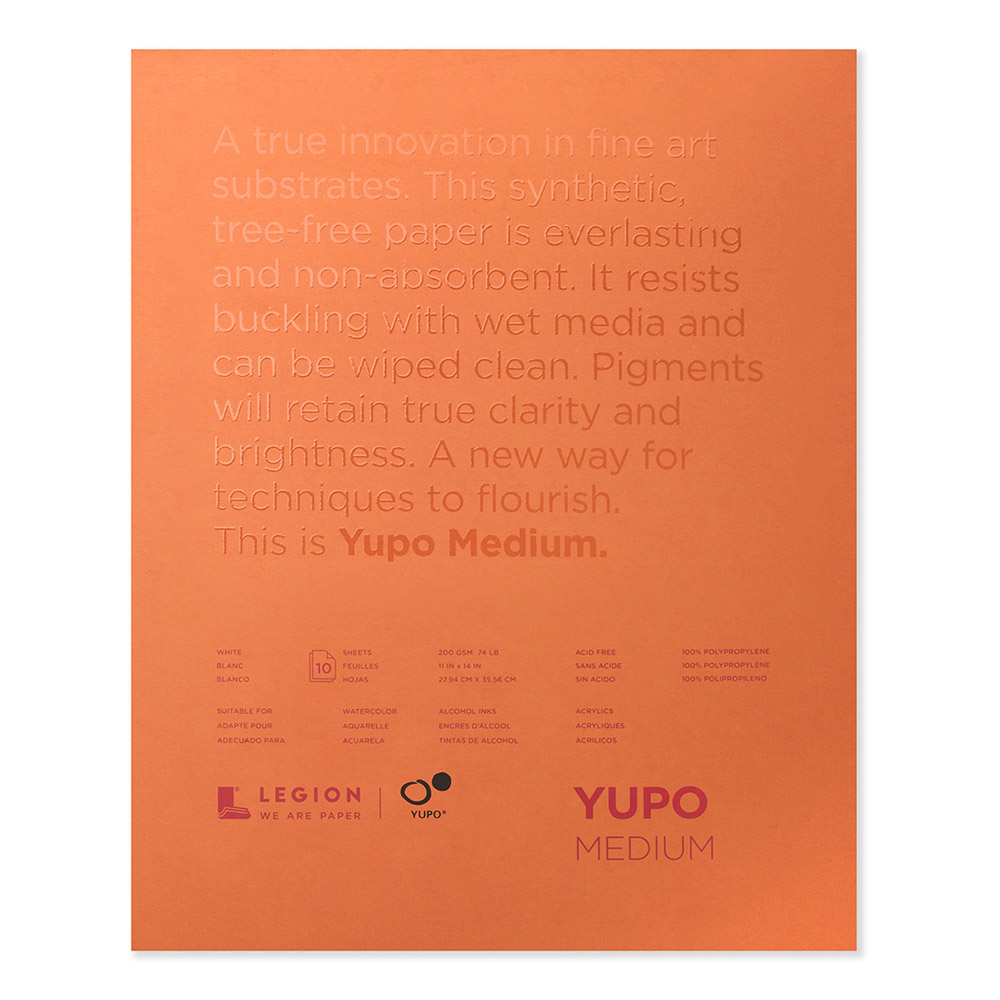 Yupo Polypropylene Pad Medium 74# 11x14