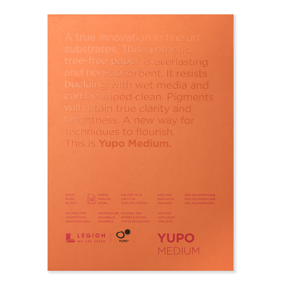 Yupo Polypropylene Pad Medium 74# 5X7