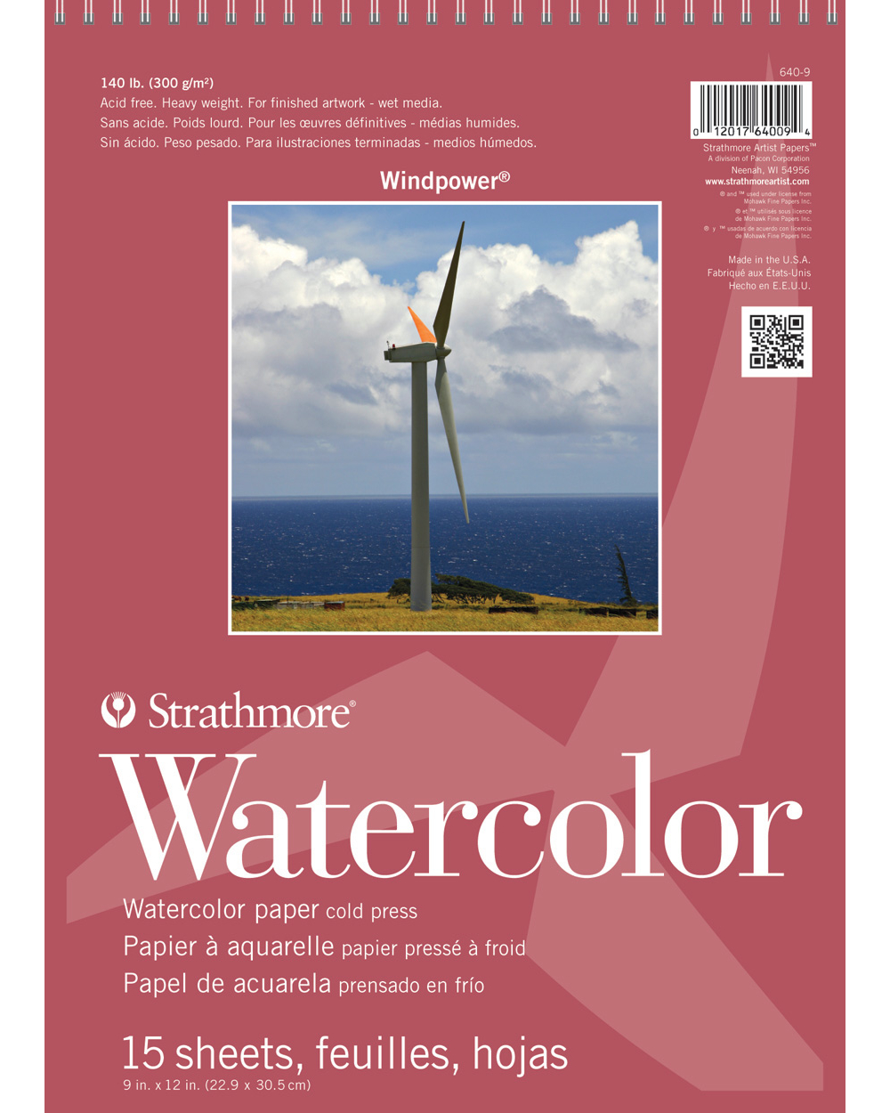 Strathmore Windpower Watercolor Pad 9X12