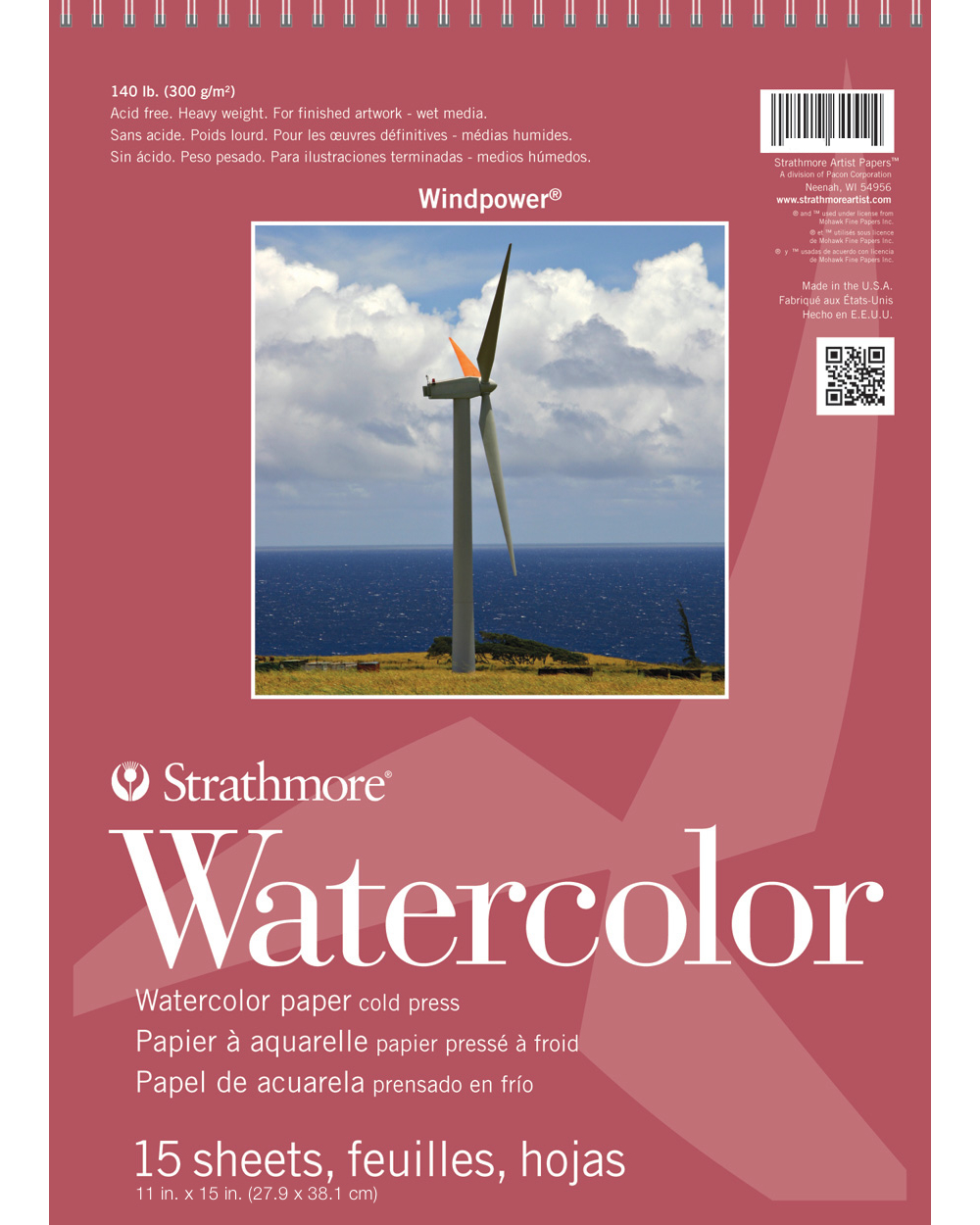 Strathmore Windpower Watercolor Pad 11X15