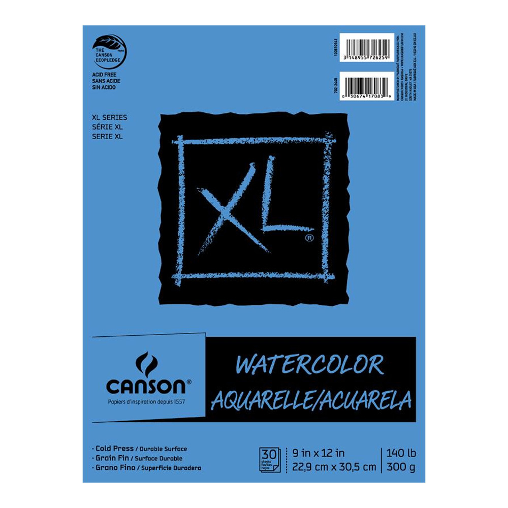 Canson Xl Watercolor Pad 9X12