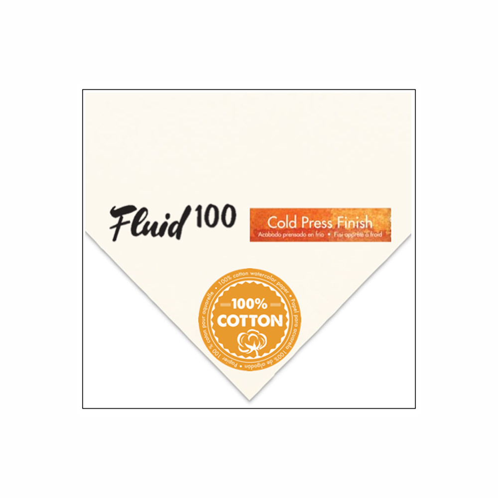 Fluid 100 Watercolor Cp 140Lb 22X30 Sht 6/Pk