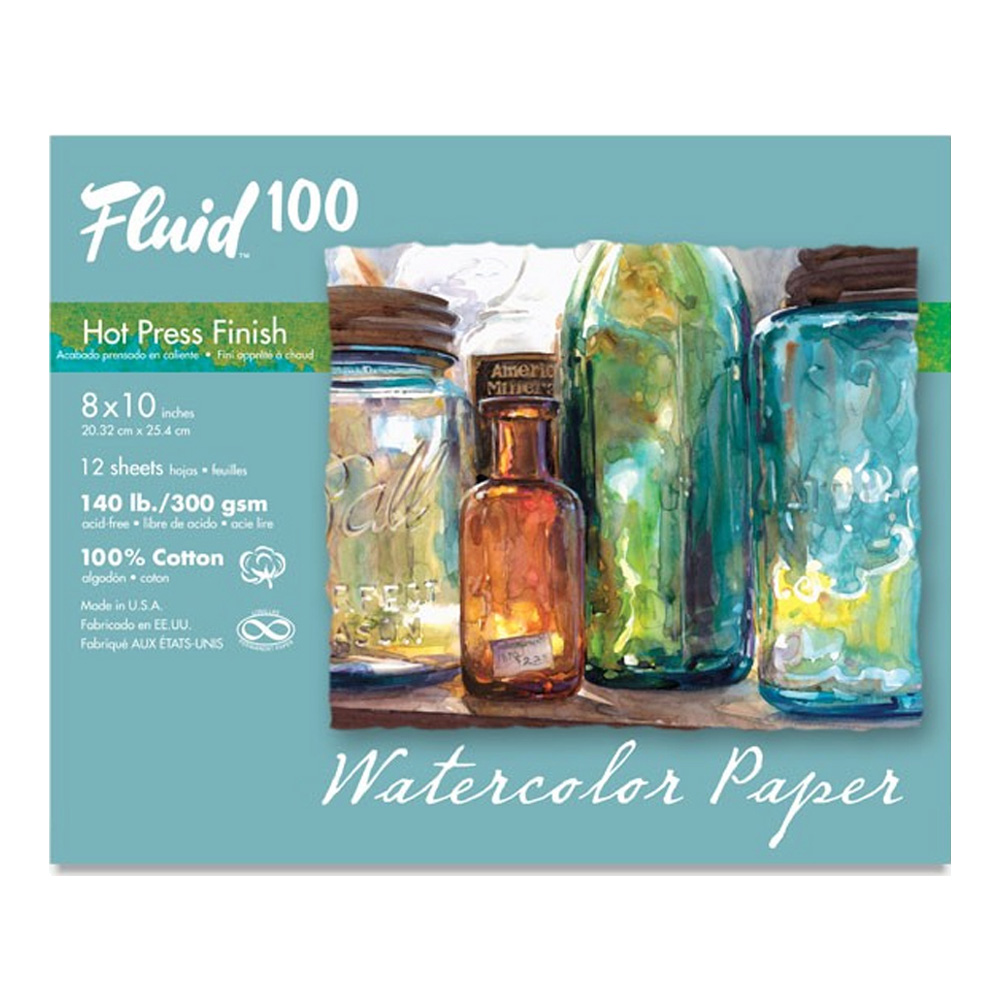 Fluid 100 Watercolor Hp 140Lb Pochette 8X10