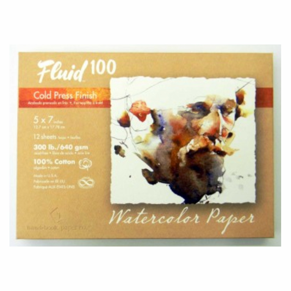 Fluid 100 Watercolor Cp 300Lb Pochette 5X7