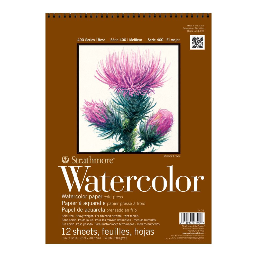 Strathmore 400 Watercolor Pad 9X12