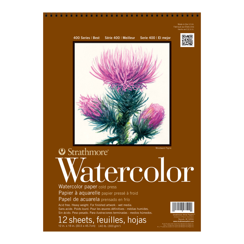 Strathmore 400 Watercolor Pad 12X18