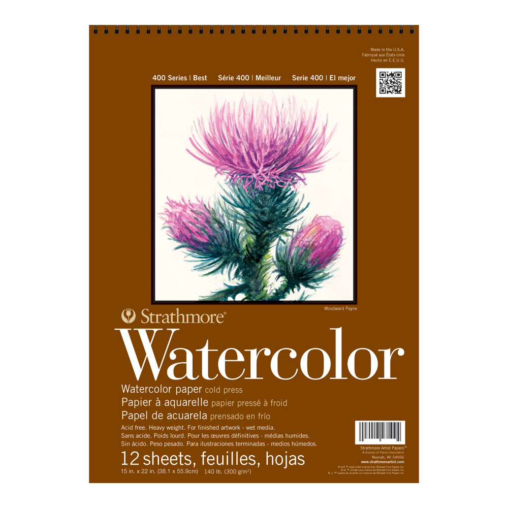 Strathmore 400 Watercolor Pad 15X22
