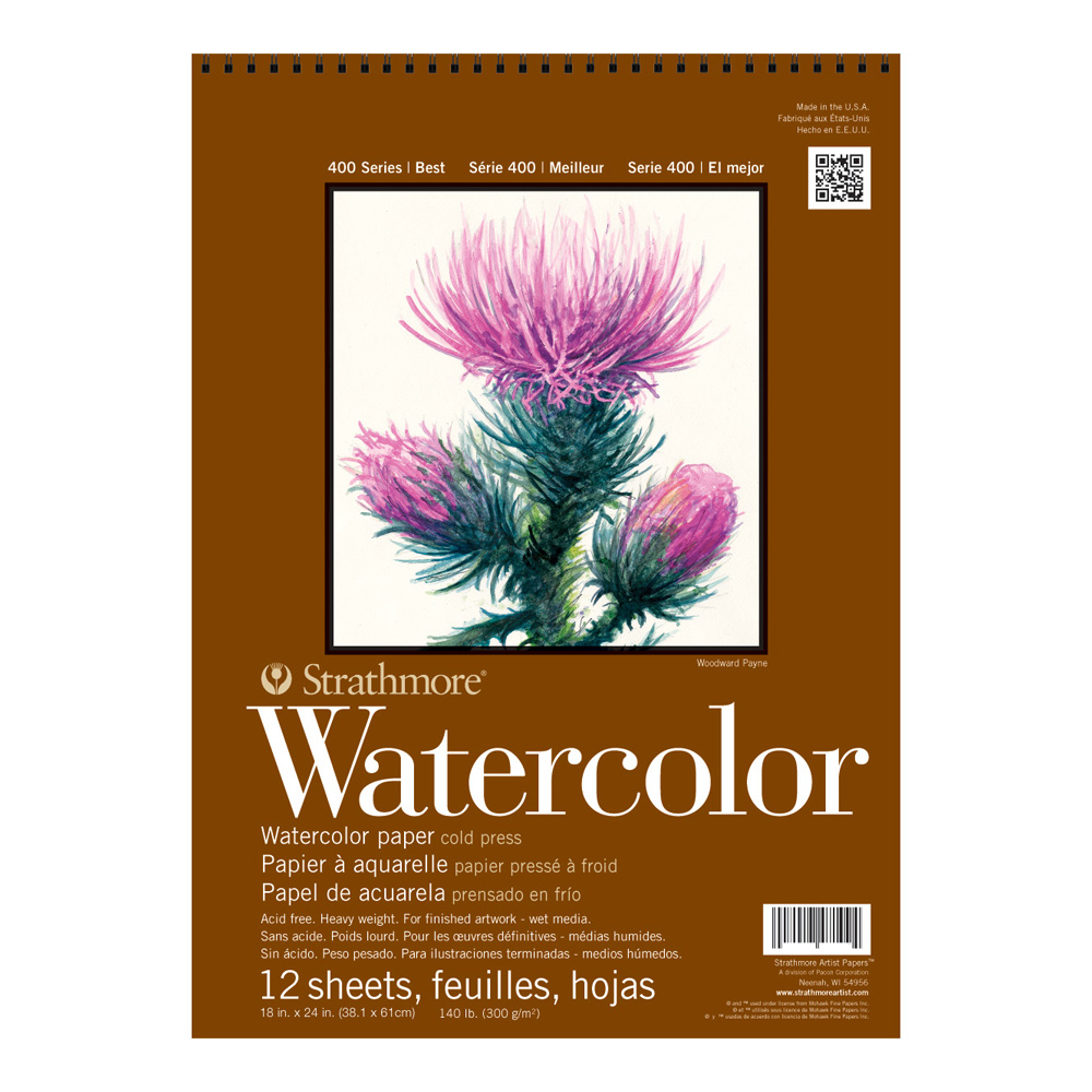 Strathmore 400 Watercolor Pad 18X24