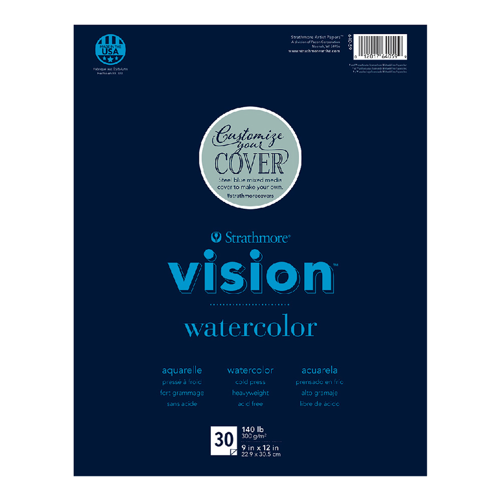 Strathmore Vision Custom Watercolor Pad 9x12
