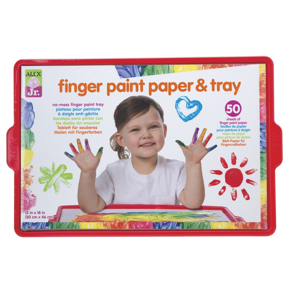 Alex Finger Paint Tray With Paper
