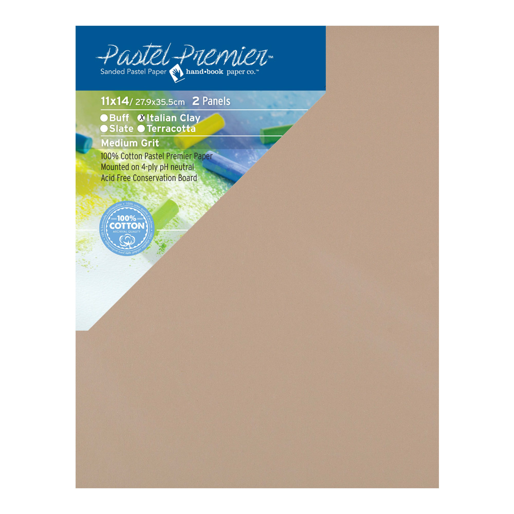 Pastel Premier Cons Panel Ita Clay 11X14 2Pk
