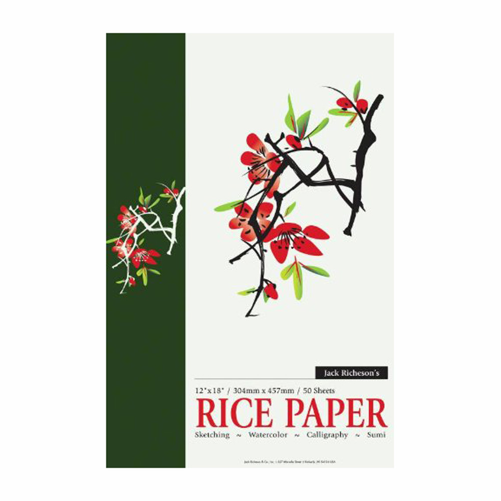 Richeson Rice Paper Pad 12X18Inch 50/Sheet