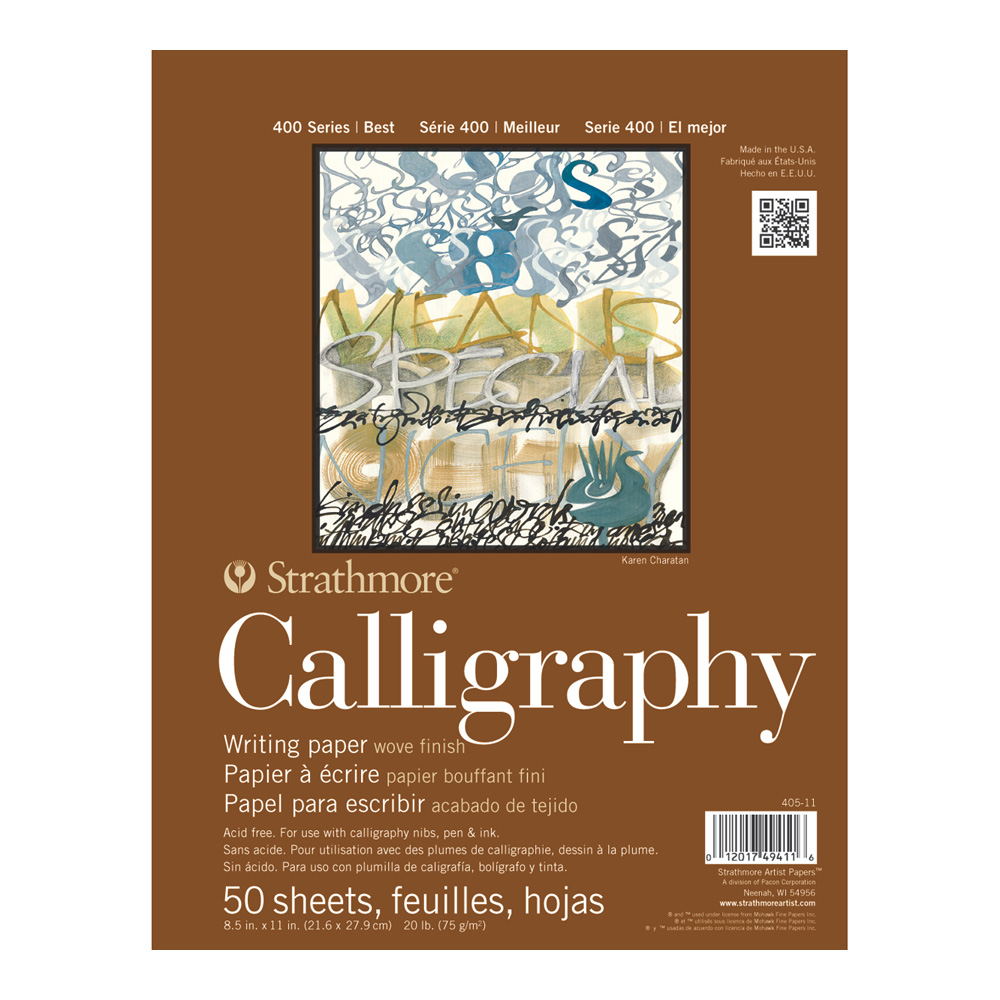 Strathmore 400 Calligraphy Pad 50 Shts 8.5X11