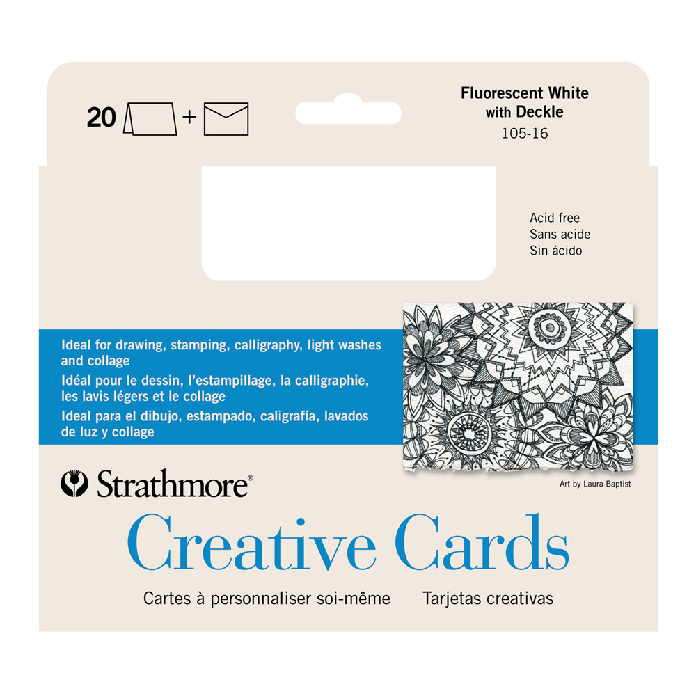 Strathmore Greeting Cards Fluor Pkg 20