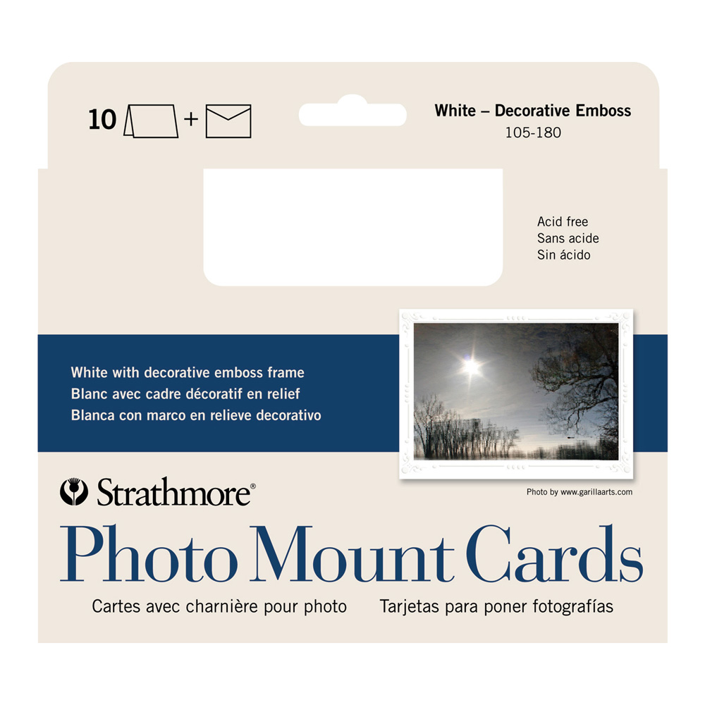 Strathmore Photomount Cards Deco White Pk/10