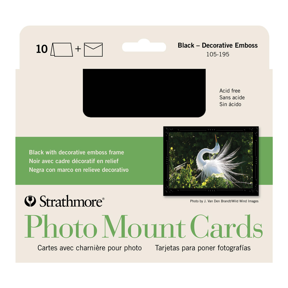 Strathmore Photomount Cards Deco Black Pk/10