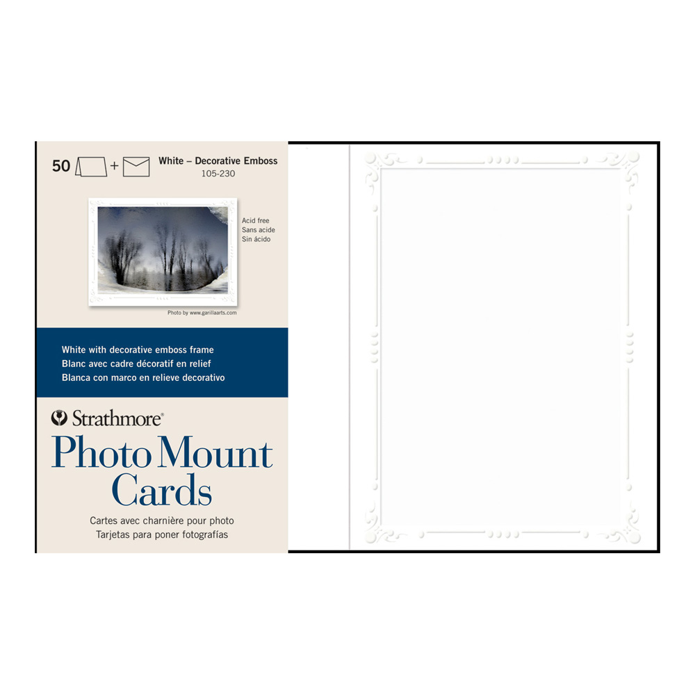 Strathmore Photomount Cards Deco White Pk/50
