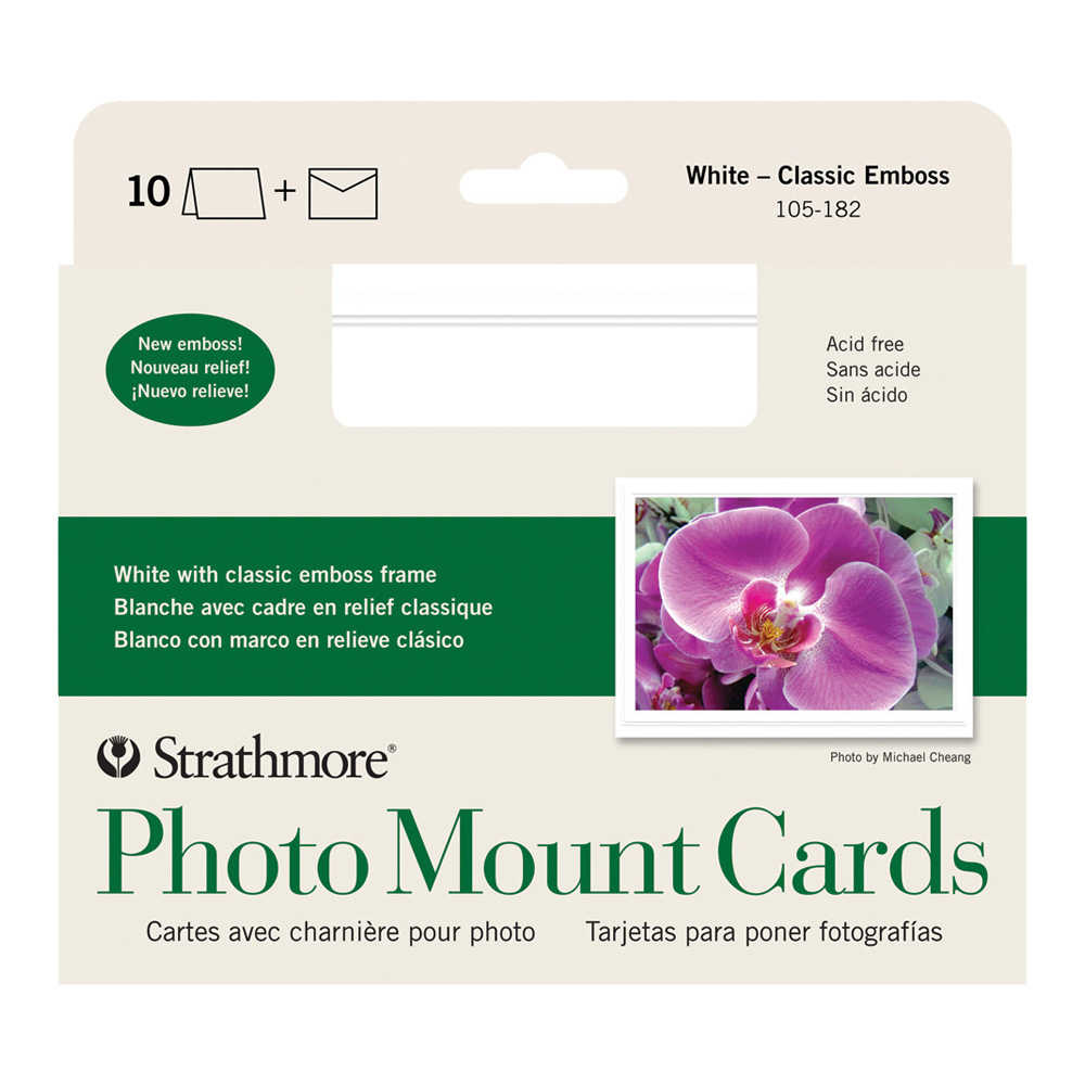 Strathmore Photomount Cards Clas White Pk/10
