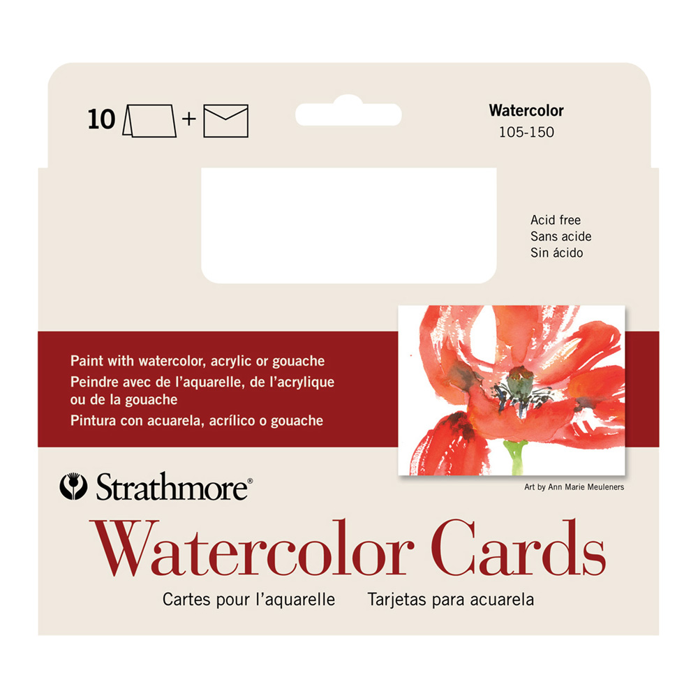 Strathmore Watercolor Greeting Card Pkg 10