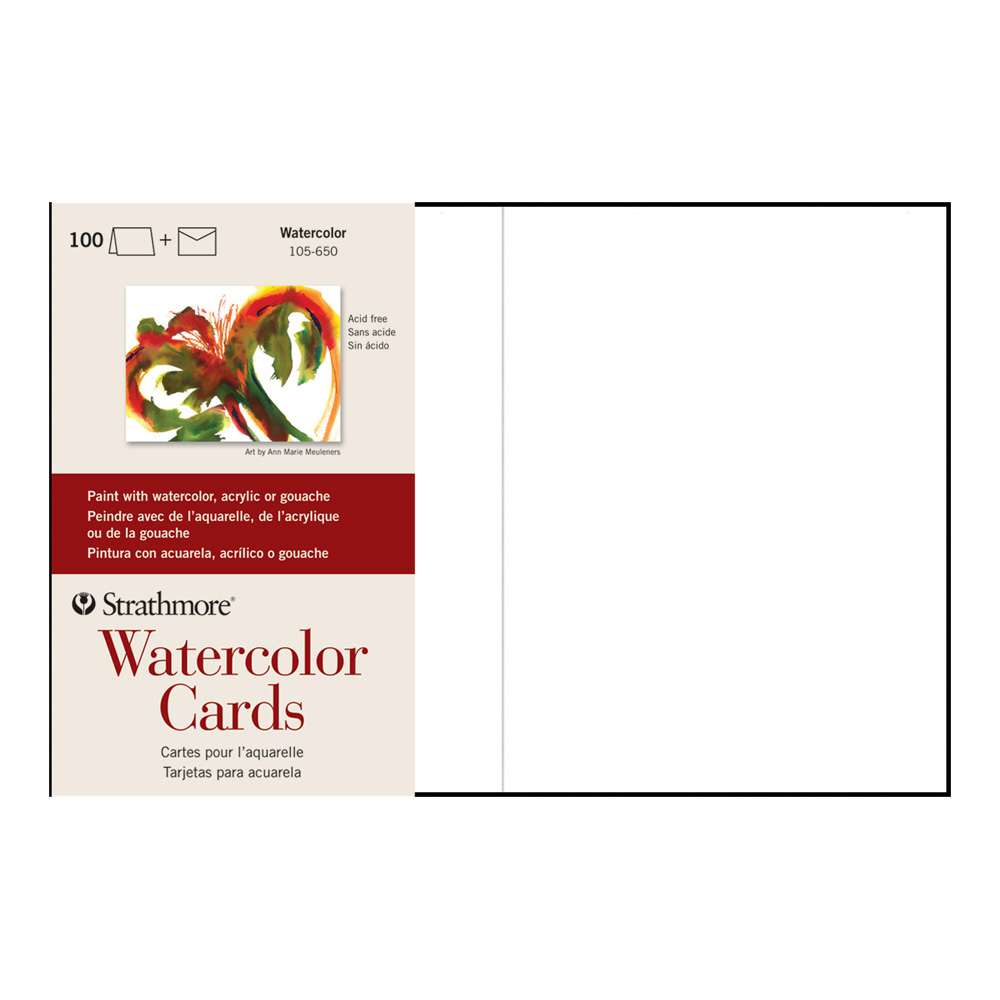 Strathmore Watercolor Greeting Card Pkg 100