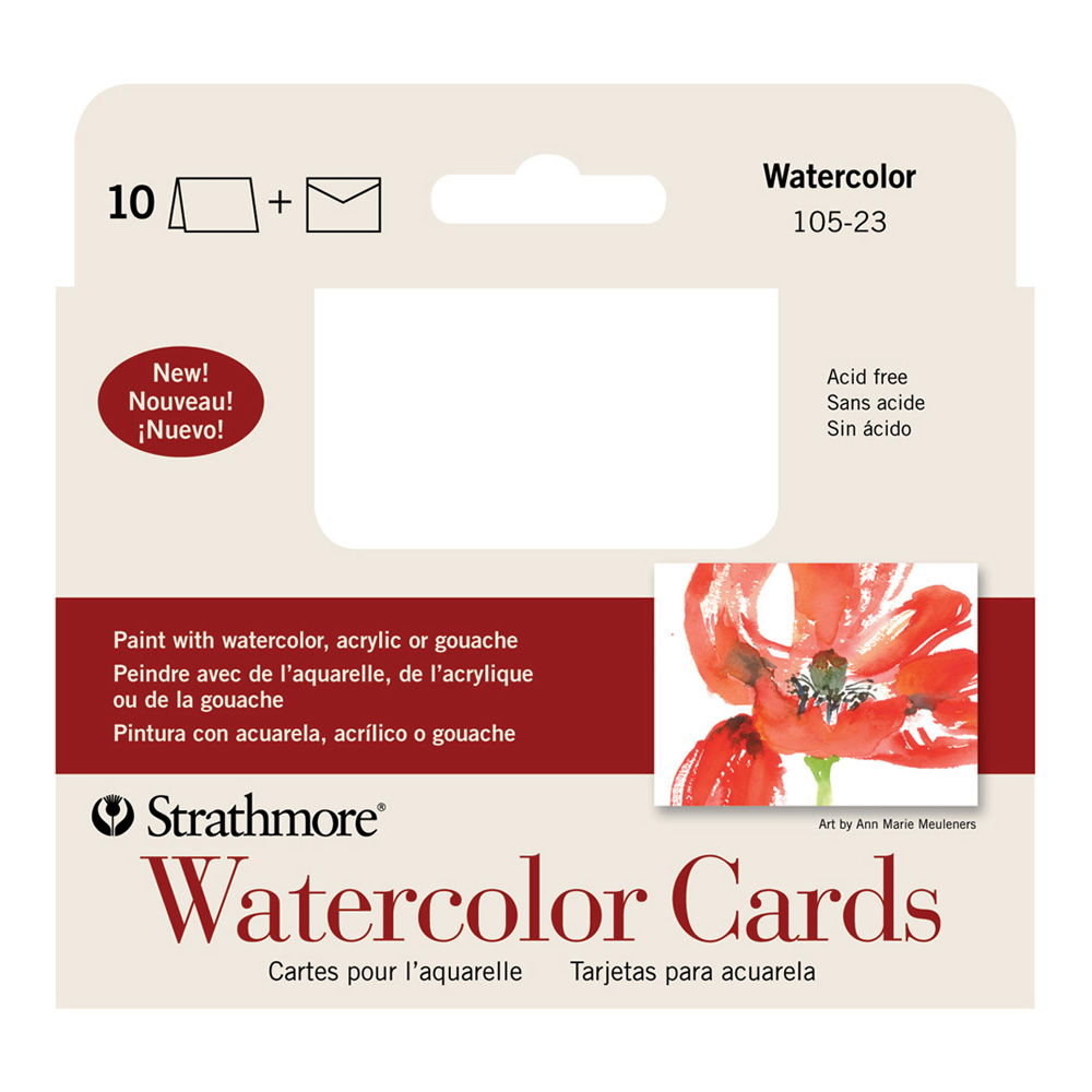 Strathmore Announcement Cards Watercolor Pk10
