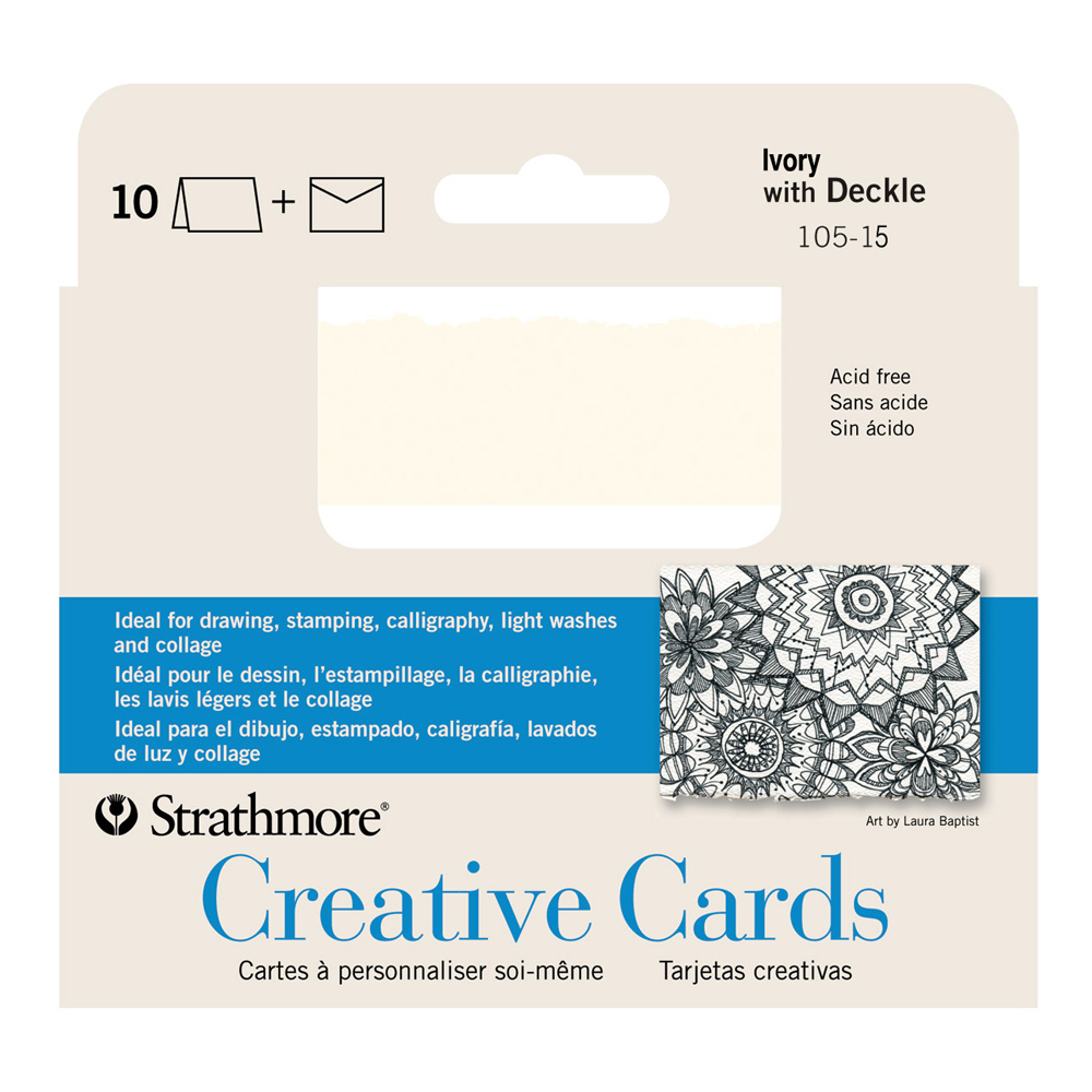 Announcement Cards Ivory Pkg 10