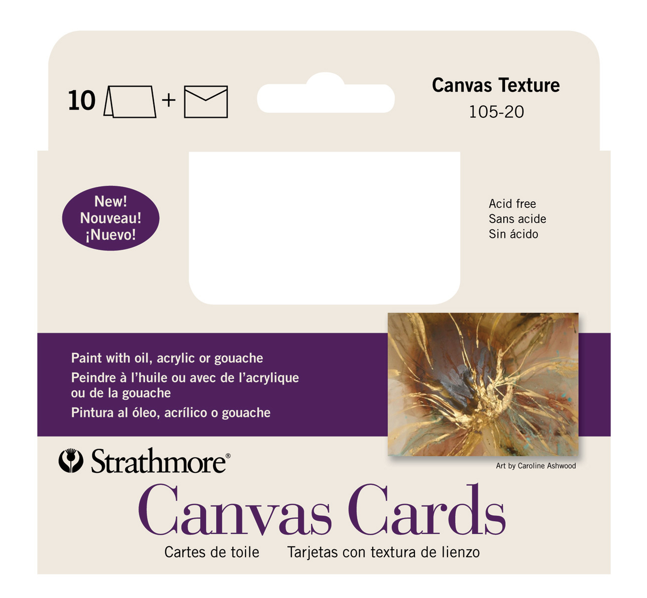 Strathmore Announcement Cards Canvas Pk 10