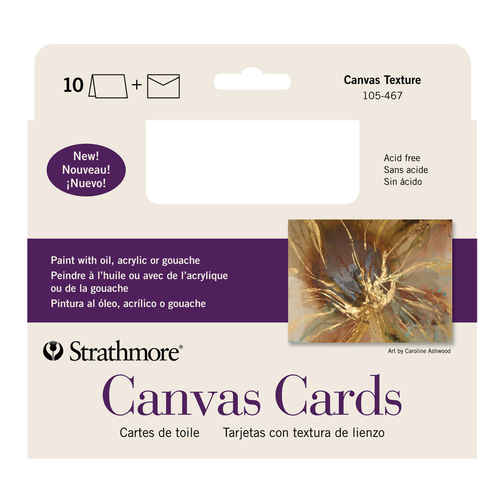Strathmore Greeting Cards Canvas Pk 10