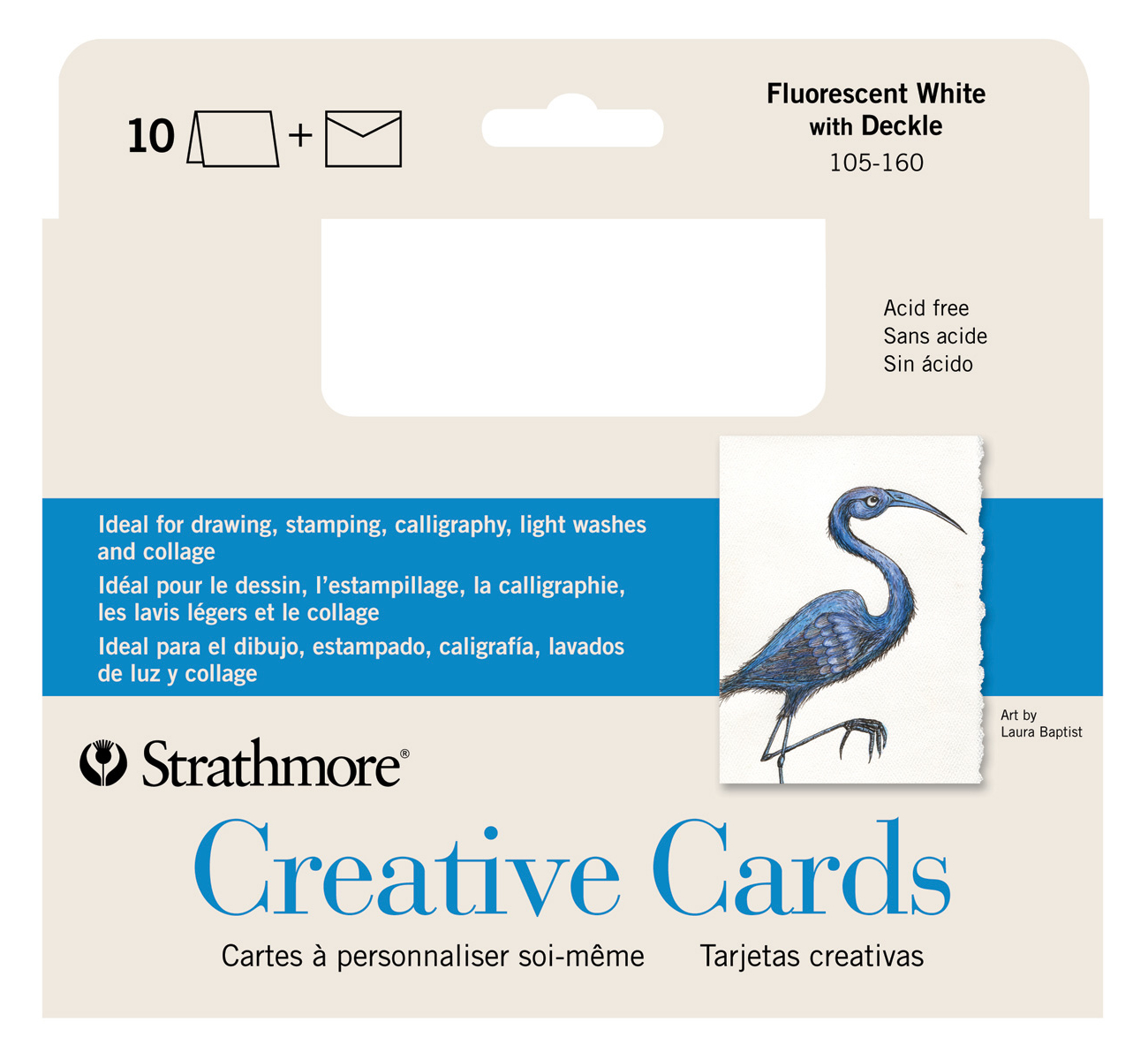 Strathmore Greeting Cards Flr White Pkg 10