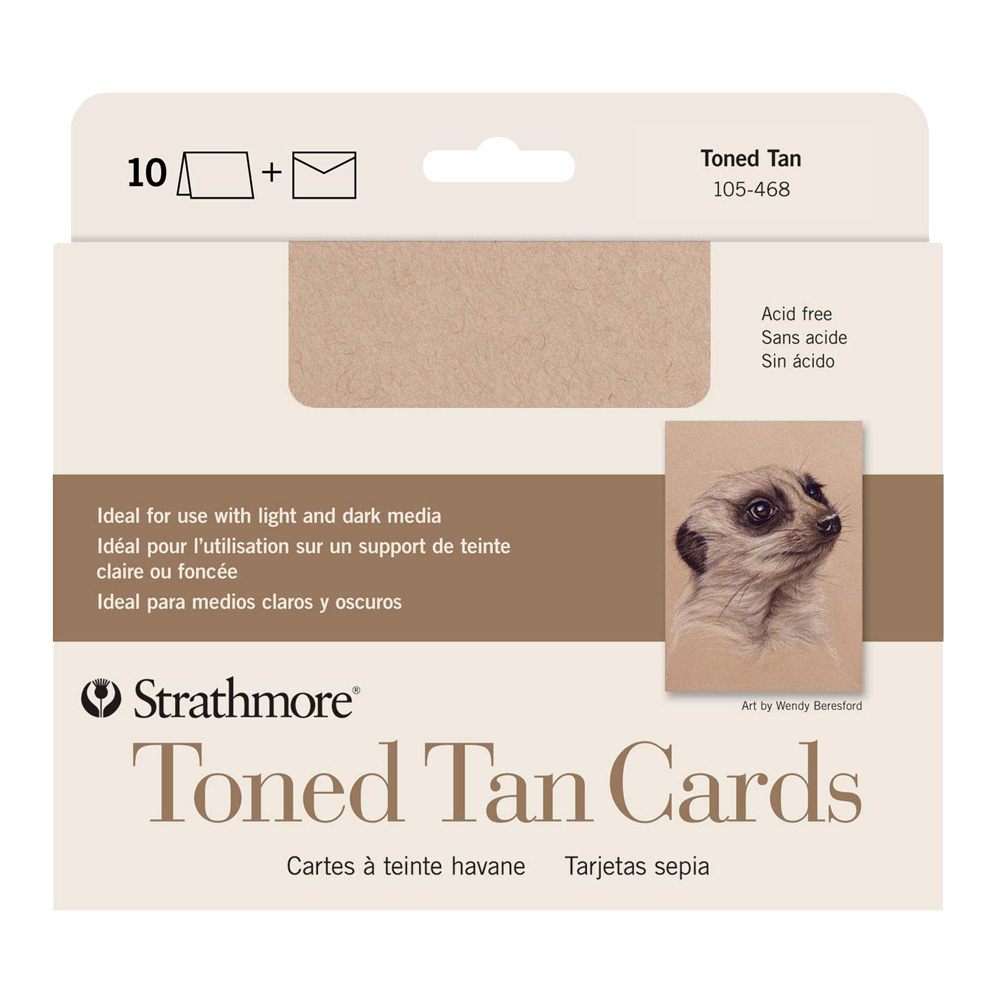 Strathmore Greeting Cards Toned Tan Pkg 10