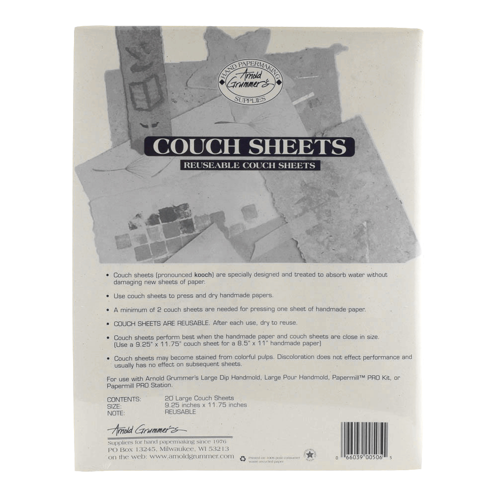 A.grummer 20/Pk Large 9.25X11.75 Couch Sheets