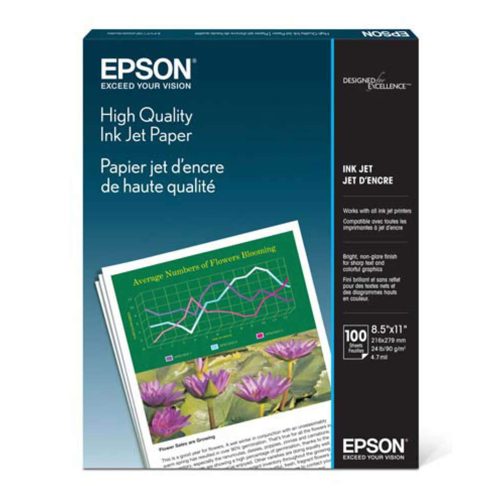 Epson High Quality Ink Jet Paper 100 8.5X11