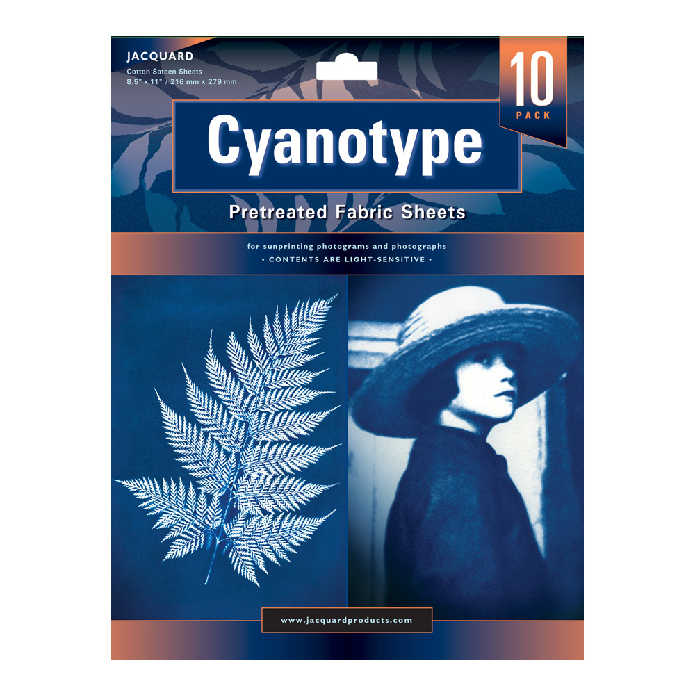 Jacquard Cyanotype Pretreat Fabric Shts 10Pk