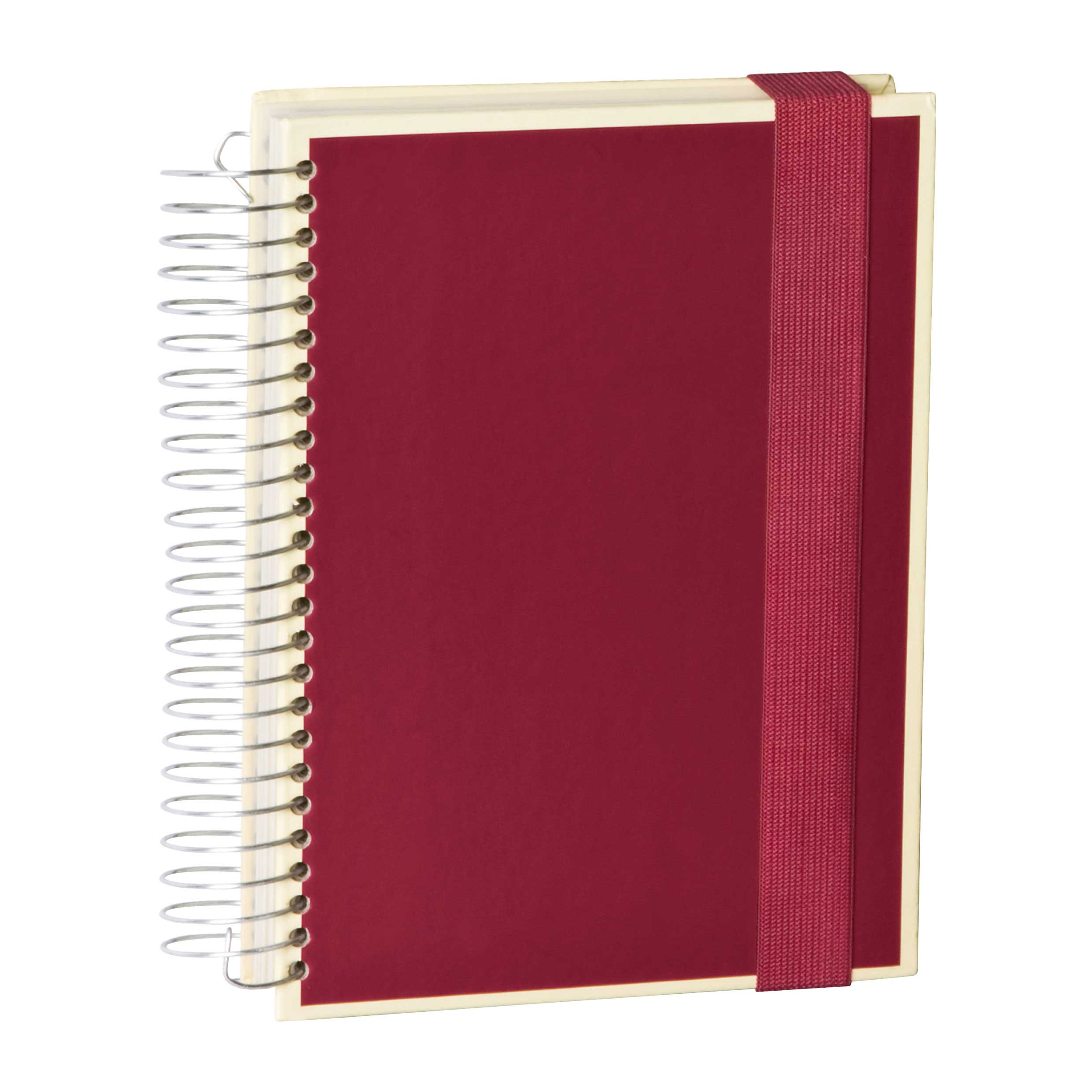 Semikolon Mucho A5 Spiral Notebook Burgundy