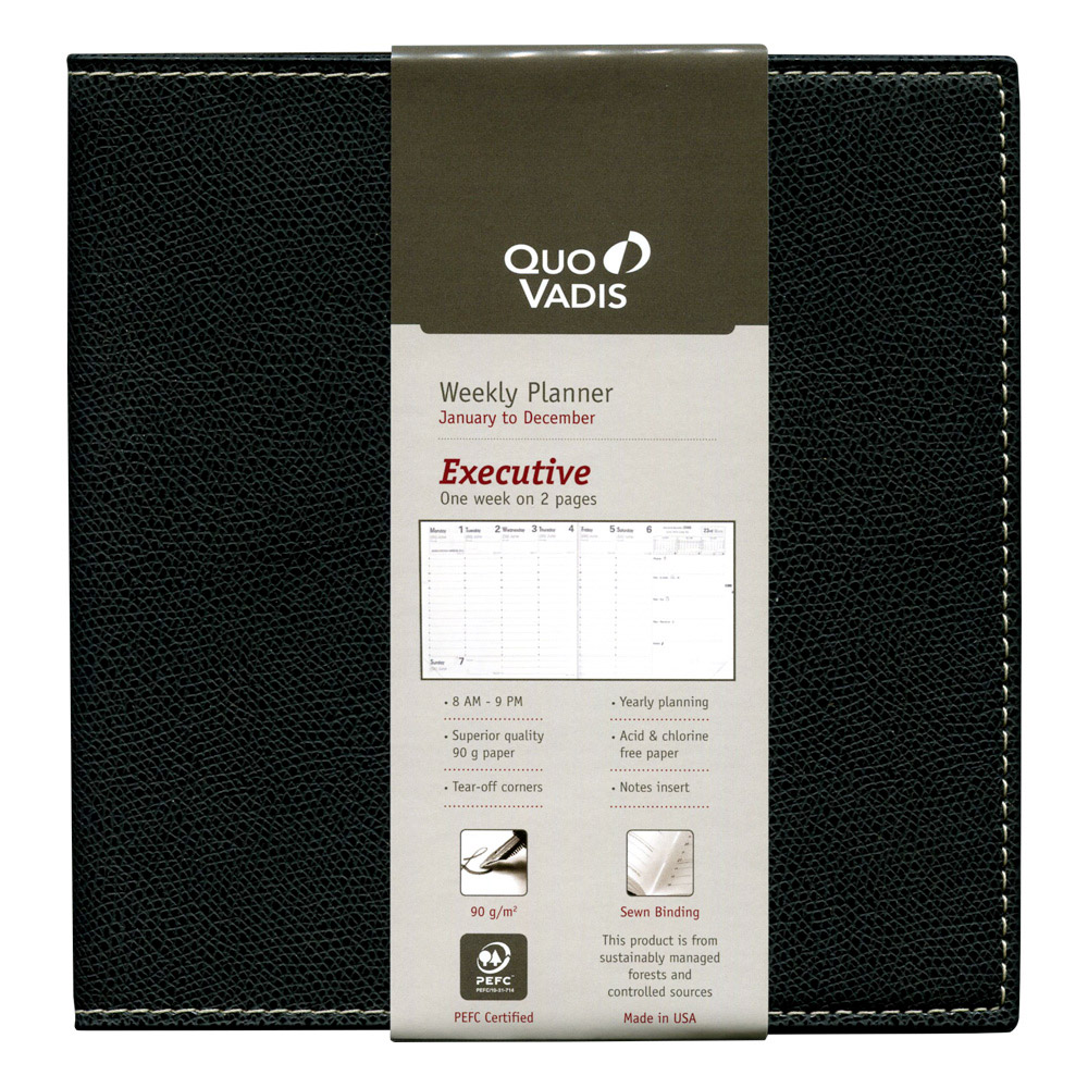 Quo Vadis Club Executive Black 2019 Planner