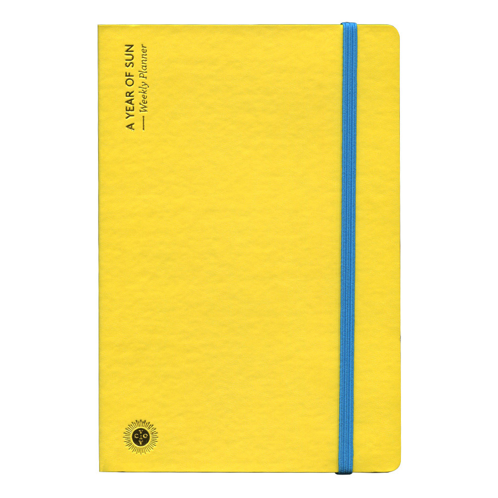 Octaevo A Year of Sun Weekly Planner - Yellow